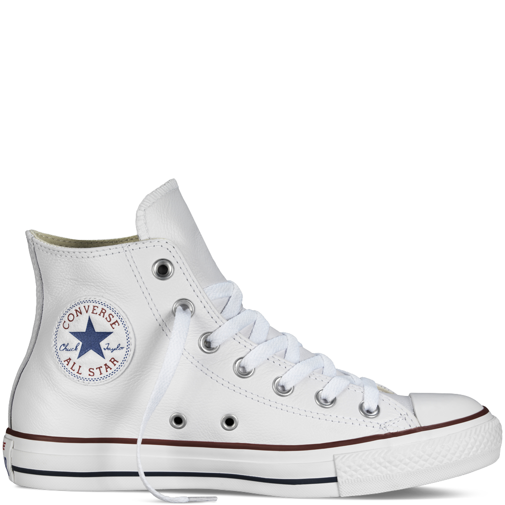 e44a58c83503 Converse Leather Chuck Taylor Hi Optical White 132169 – Famous Rock Shop