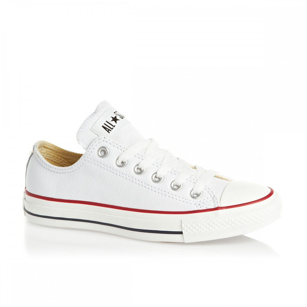 049187ad6b4c65 Converse Chuck Taylor Ox Optical White Leather Low 132173 Famous rock shop  Newcastle NSW Australia ...