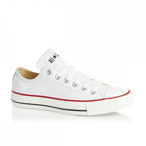 Converse Chuck Taylor Ox Optical White Leather Low 132173 Famous rock shop Newcastle NSW Australia