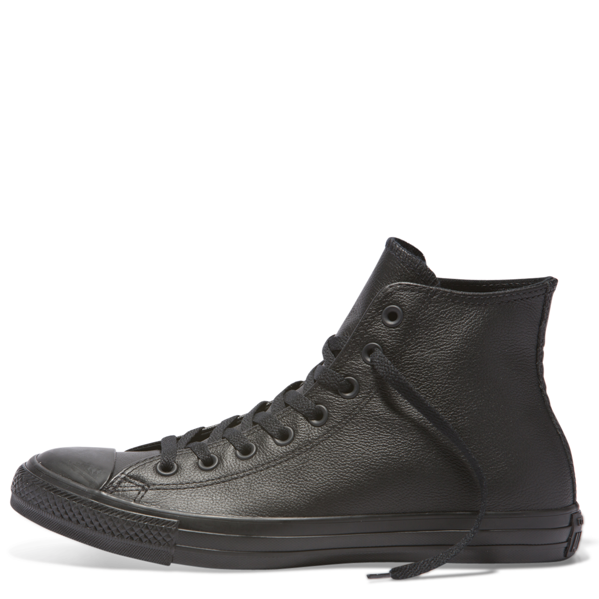 2c62af73e6ce ... Converse All Star Chuck Taylor Hi Black Black Leather More sizes Black Leather  Converse Famous Rock ...
