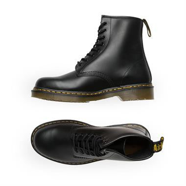 Dr Martens 1460 8 Hole Black Smooth Leather Boots 1460Z DMC 8-Eye Boot 1