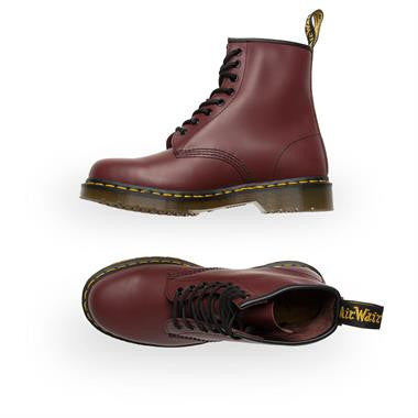 Dr Martens 1460 Cherry 8 Eyelet Leather Boots 11822600 1460Z DMC 8-Eye Boot