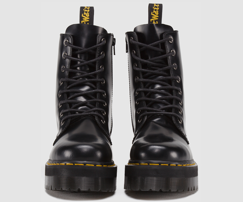 39c5004801 Dr Martens Jadon Black Polished Smooth Boots 15265001 – Famous Rock Shop