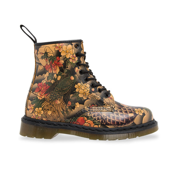 Dr Martens 1460 Tan Tattoo Sleeve Softy T Leather Boots