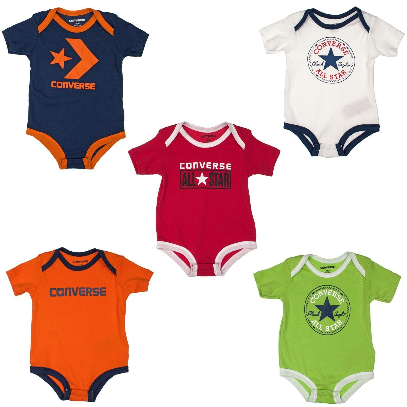 Converse Baby Crib Playsuit Set of 5 More styles & sizes may be available in store phone us on 0249291856 Famous Rock Shop Newcastle 2300 NSW Australia