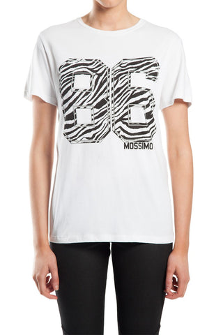 Mossimo 86 Safari White/ Zebra T-Shirt