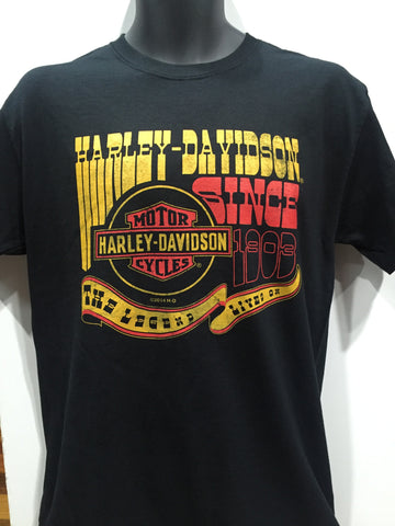 Harley Davidson ' Wild West ' T-Shirt  Famous Rock Shop Newcastle 2300 NSW Australia