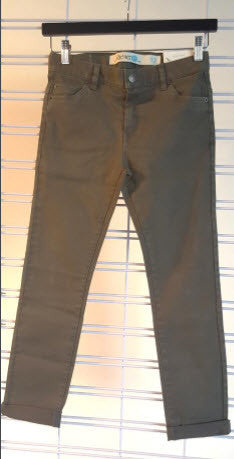 Riders Jnr Slim-Jim Roll Em' Washed Khaki Jeans 530020