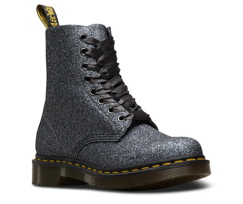 Dr Martens 1460 Pascal Glitter Pewter 8 Hole Boots