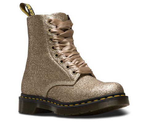 Dr Martens 1460 Pascal Glitter Pale Gold 8 Hole Boots