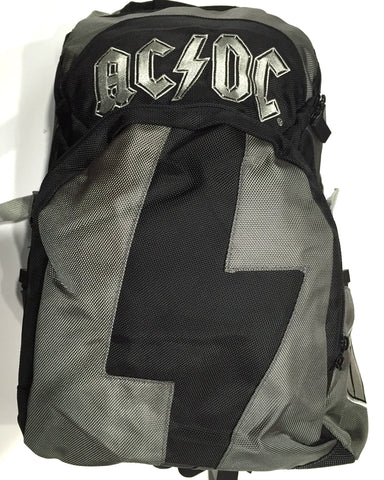 ACDC Backpack Black & Grey. Famous Rock Shop Newcastle 2300 NSW Australia