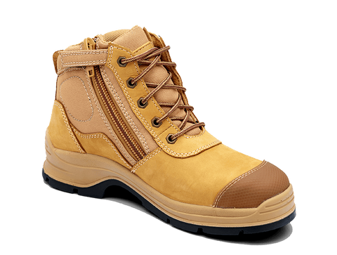 Blundstone Wheat Nubuck Leather Steel Toe Cap 318