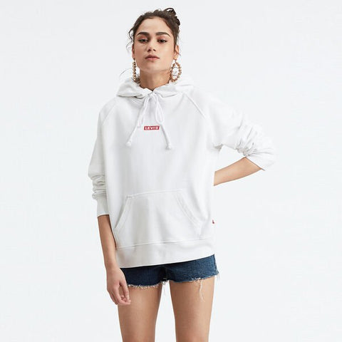 Levi's Graphic Sport Hoodie Baby Tab Hoodie White 389460063 Famous Rock Shop Newcastle 2300 NSW Australia