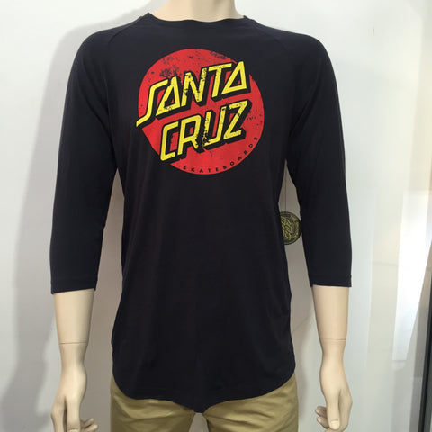 Santa Cruz Big Dot Acid Raglan Acid Black