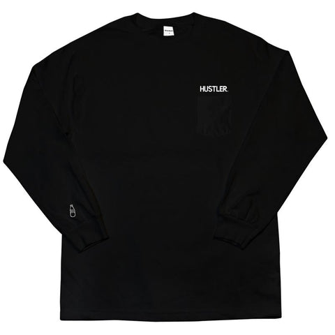40s & Shorties Hustler Long Sleeve w/ Pocket Black. Famous Rock Shop. 517 Hunter Street Newcastle, 2300 NSW. Australia