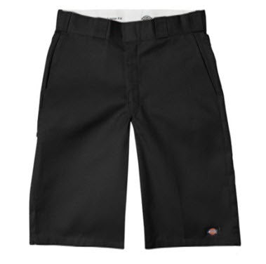 Dickies 42283 13 Inch Loose Fit Multi Pocket Black Work Shorts