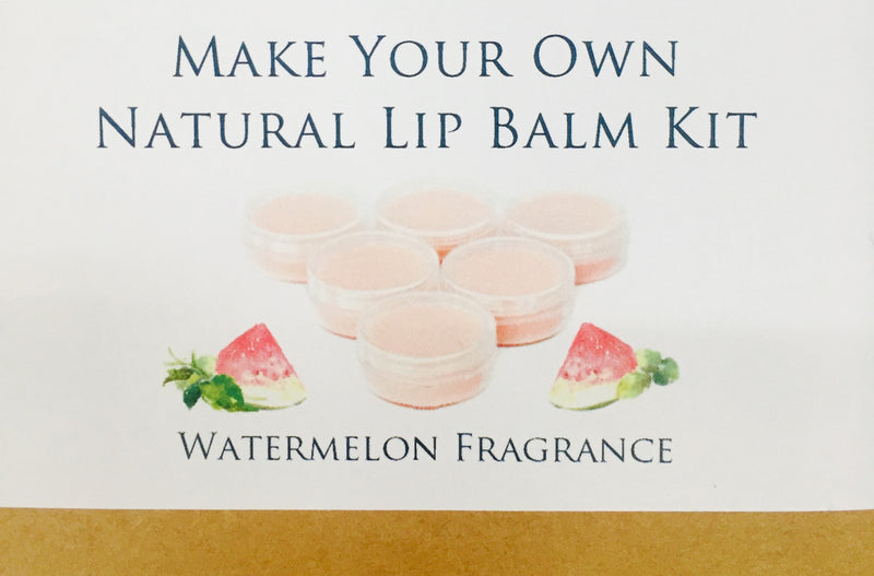 Make Your Own Natural Lip Balm Kit - Watermelon Fragrance