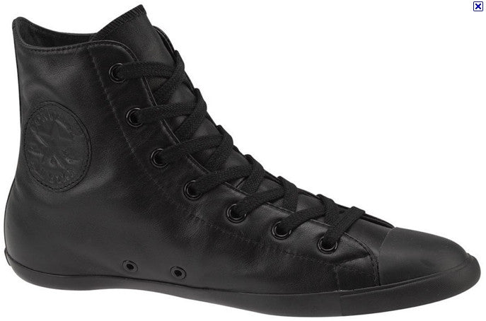 Converse Hi Black Leather Light