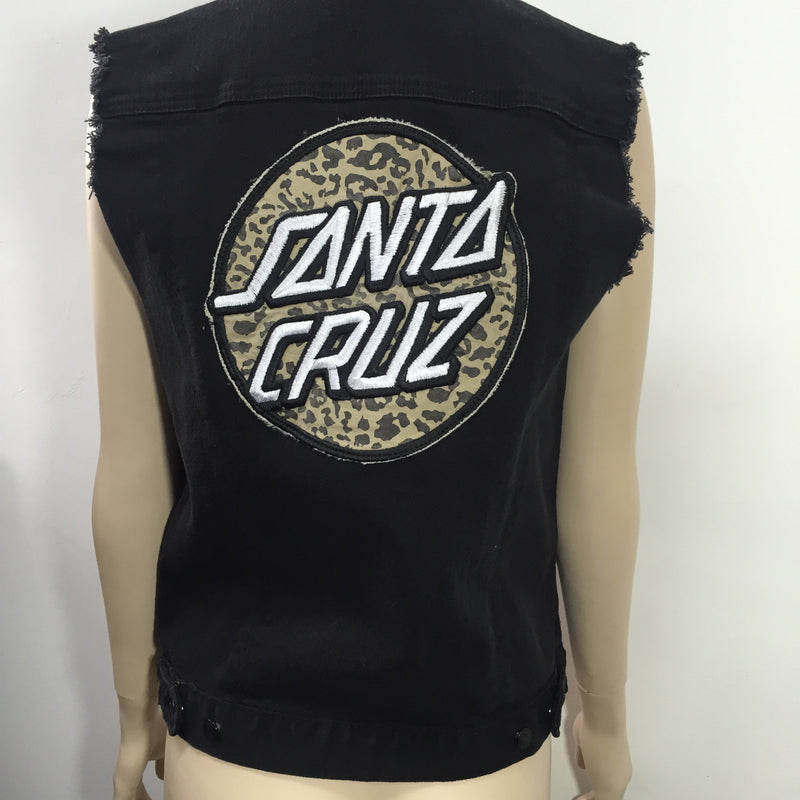Santa Cruz Primal Dot Denim Vest Black 1223 Famous Rock Shop  Newcastle, 2300 NSW Australia.