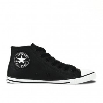 55aca74c7cd390 Converse Dainty Leather Mid Black – Famous Rock Shop