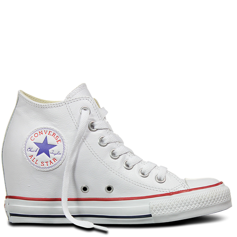 823b42faa912 Converse Chuck Taylor All Star Lux Mid Hi White Leather Wedge 549560C