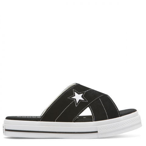 Converse One Star Sandal Slip Black Egret and White 564143 Famous Rock Shop Newcastle 2300 NSW Australia