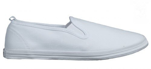 Raben 611Slip On White Canvas Shoe Famous Rock Shop Newcastle 2300 NSW Australia