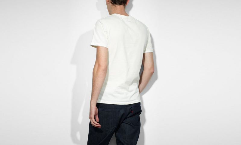 Levi's Men's Crew Slim T-Shirt Marshmallow 643020142