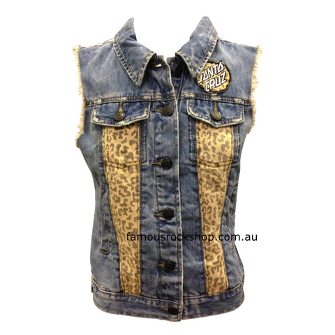 Santa Cruz Primal Dot Denim Vest Colour: Den  Famous Rock Shop  Newcastle, 2300 NSW Australia.