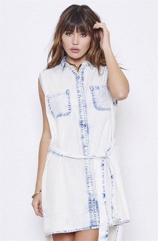 nANA Judy Wildflower Dress Acid Chambray NW3016