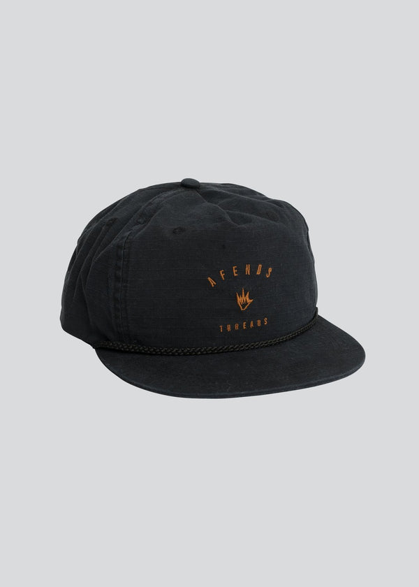 Afends Threads Unstructured Cap Black Famous Rock Shop Newcastle NSW Australia