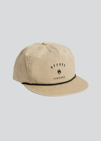 Afends Threads Unstructured Cap Tan
