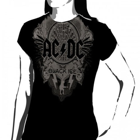 ACDC T-Shirt Black Ice Black Women's