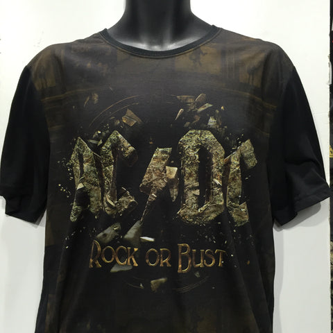 AC/DC Rock Or Bust Black T-Shirt Famous Rock Shop Newcastle, 2300 NSW Australia