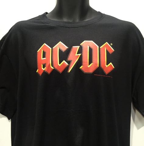 AC/DC - Band Logo Black T-Shirt Famous Rock Shop Newcastle, 2300 NSW Australia