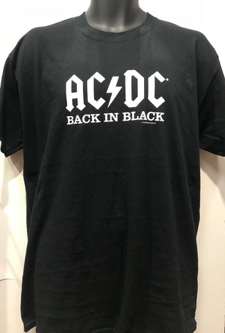 ACDC Black in Black Men's boys med girls med acdc004 Famous Rock Shop Newcastle 2300 Newcastle Australia