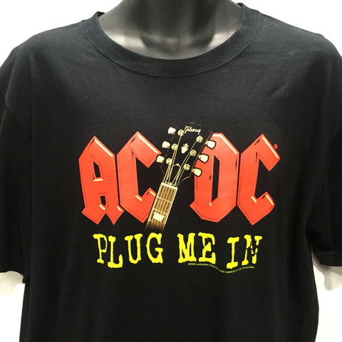 AC/DC - Plug Me In Black T-Shirt Famous Rock Shop Newcastle, 2300 NSW Australia