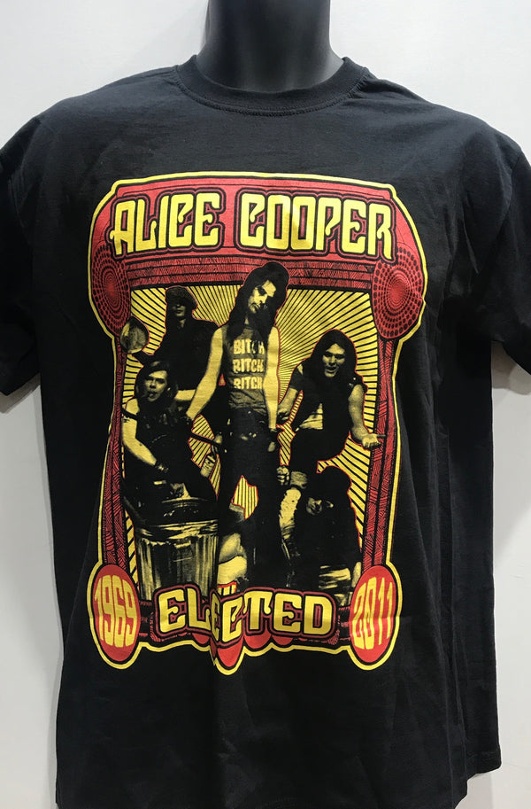 ALICE COOPER MEN'S TSHIRT ELECTED BAND ACTEE04MB01 Famous Rock Shop Newcastle 2300 NSW Australia