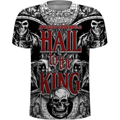 Avenged Sevenfold Men's Tee: All Over with Sublimination Printing Colour Sublimated on White ASTS35MW0 Avenged Sevenfold Men's Tee: All Over with Sublimination  Famous Rock Shop Newcastle 2300 NSW Australia