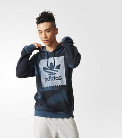 Adidas AB7943 Dusk to Darkness Printed Hood Midnight Blue -  This men's hoodie sports a moody textural allover print inspired by the dark and stormy skies over adidas Skateboarding Famous Rock Shop Newcastle 2300 NSW Australia