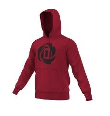 Adidas Rose Logo Red Hoody