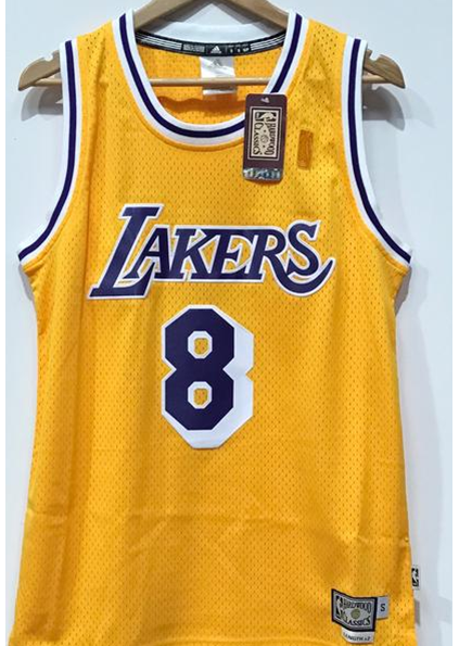 957179135f40 Adidas INTL Retired NBA Los Angeles Lakers Kobe BRYANT  8 - Yellow Famous  Rock Shop ...