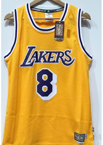 Adidas INTL Retired NBA Los Angeles Lakers Kobe BRYANT #8 - Yellow mesh