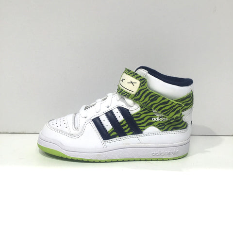 Adidas Originals Forum Infant Mid PRN Shoe. G13855. WHT/DKINDI/RADGRN Famous Rock Shop Newcastle 2300 NSW Australia