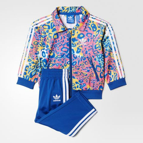 Adidas Originals Kids Printed Track Suit Multi/Blue AI9994