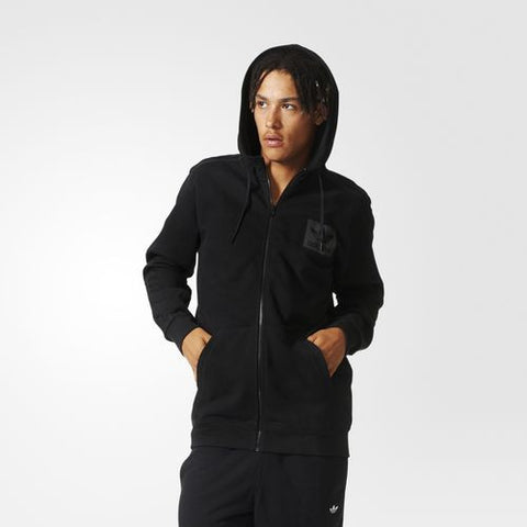 Adidas Originals Street Essentials Full Zip Hoodie Black AJ7876