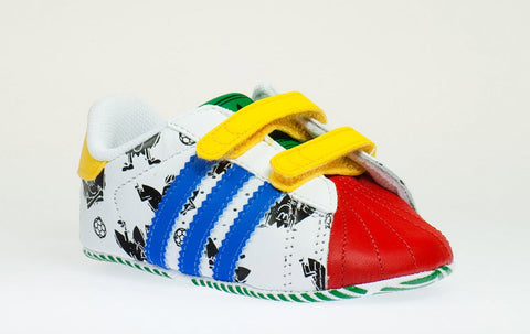 Adidas Originals Superstar 2 Smile CF Crib V24979