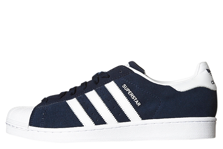 Adidas Originals Superstar Suede Navy White Navy S75142