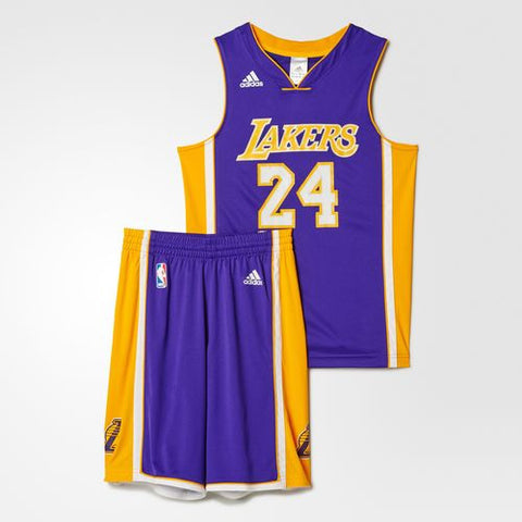 Adidas NBA Youth LA Lakers Purple Set Jersey & Shorts