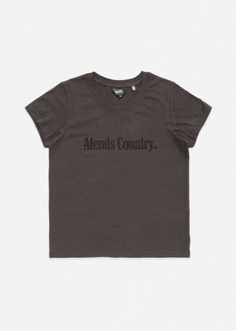 Afends AC II Standard Fit Tee Charcoal